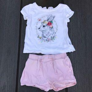 Baby Gap-SJP bunny short sleeves tops n bottoms-2